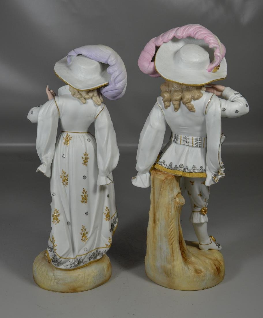 Pair of Continental Bisque Figures - 3