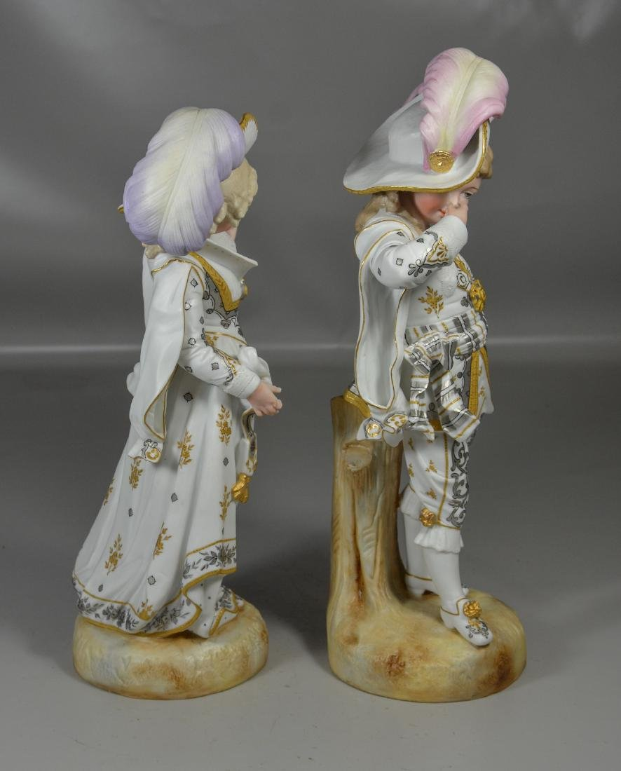 Pair of Continental Bisque Figures - 4
