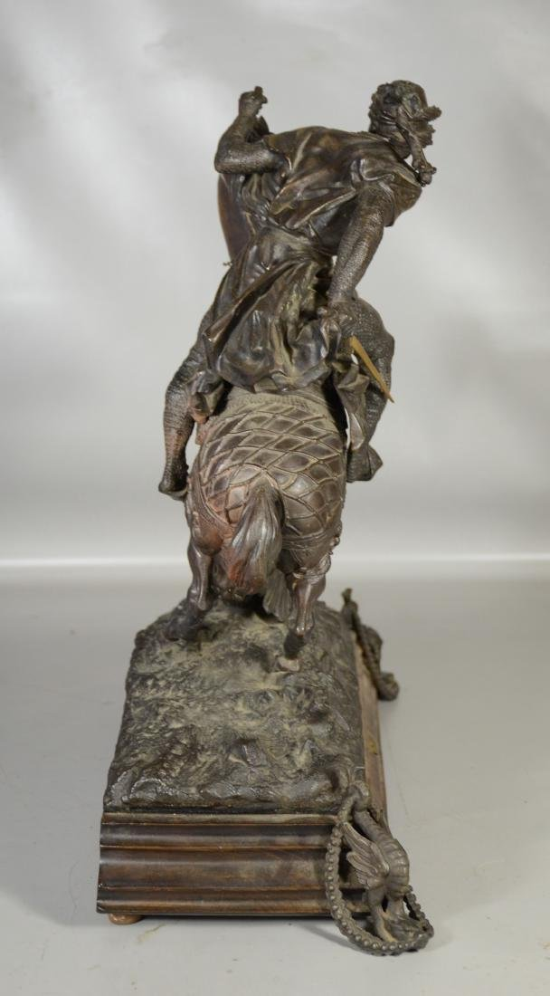 White metal sculpture of an Arab Warrior on Horseback - 6