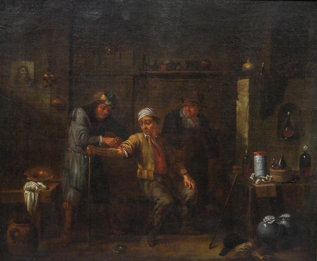 Flemish School, Manner of David Teniers, o/c