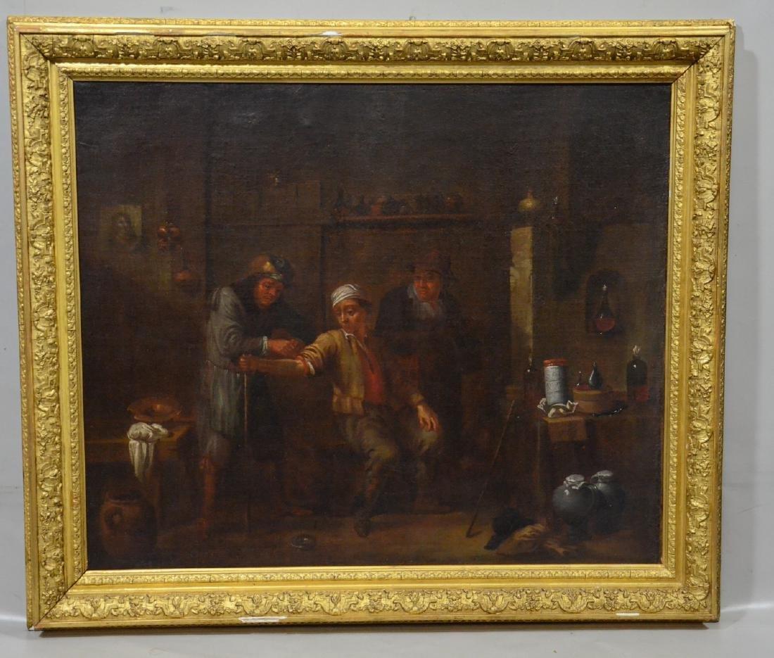 Flemish School, Manner of David Teniers, o/c - 2