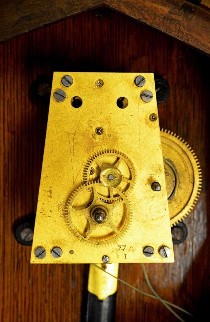 Oak Seth Thomas No 2 weight wall regulator clock - 3