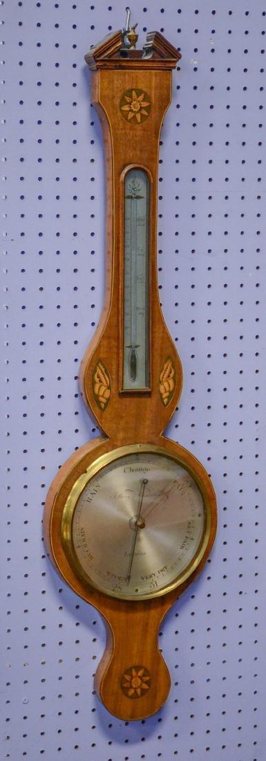 English Barometer with Shell Inlay