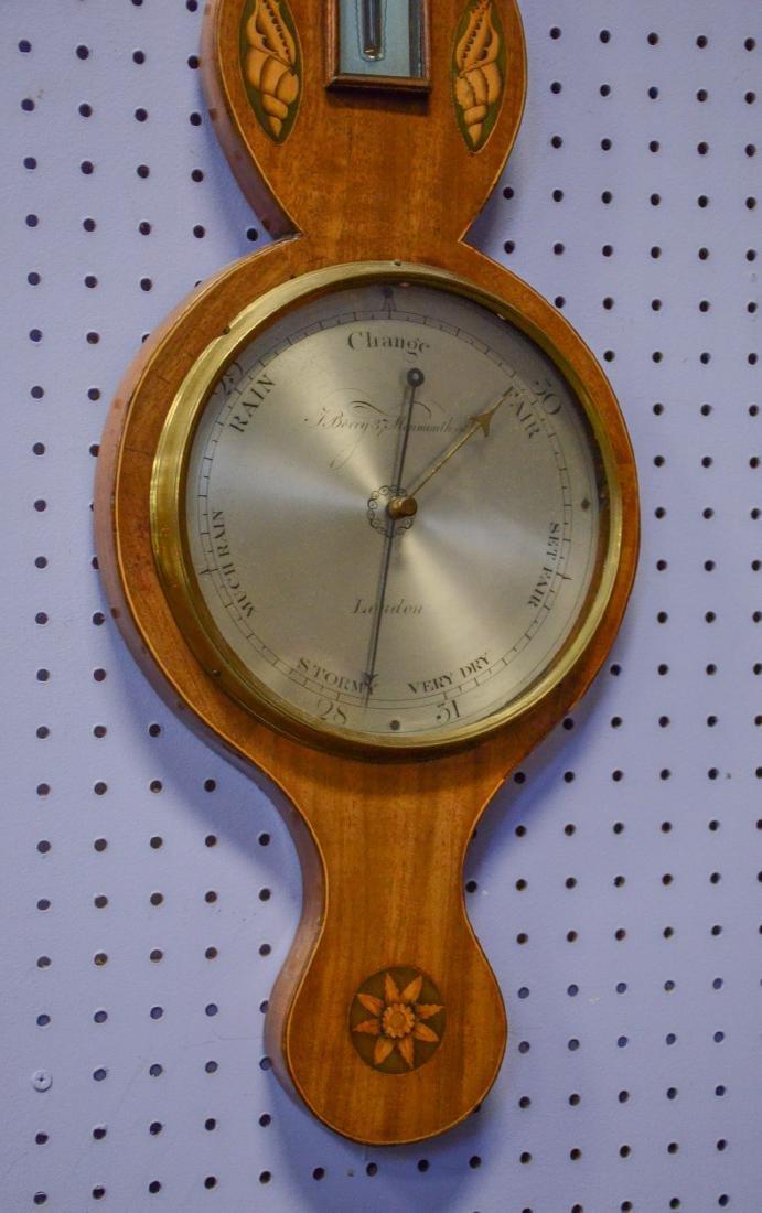 English Barometer with Shell Inlay - 3