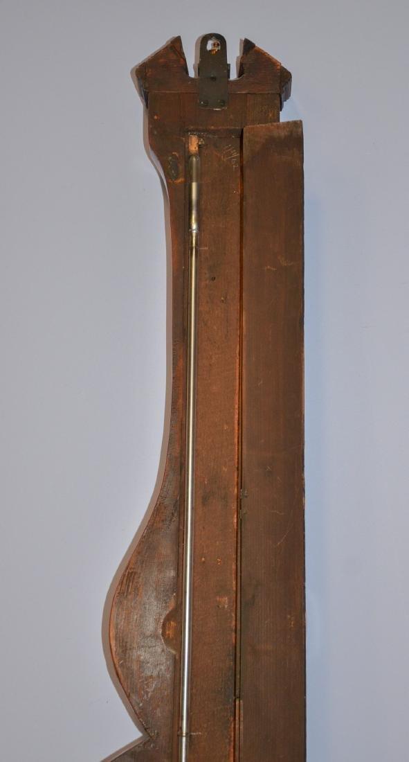 English Barometer with Shell Inlay - 6