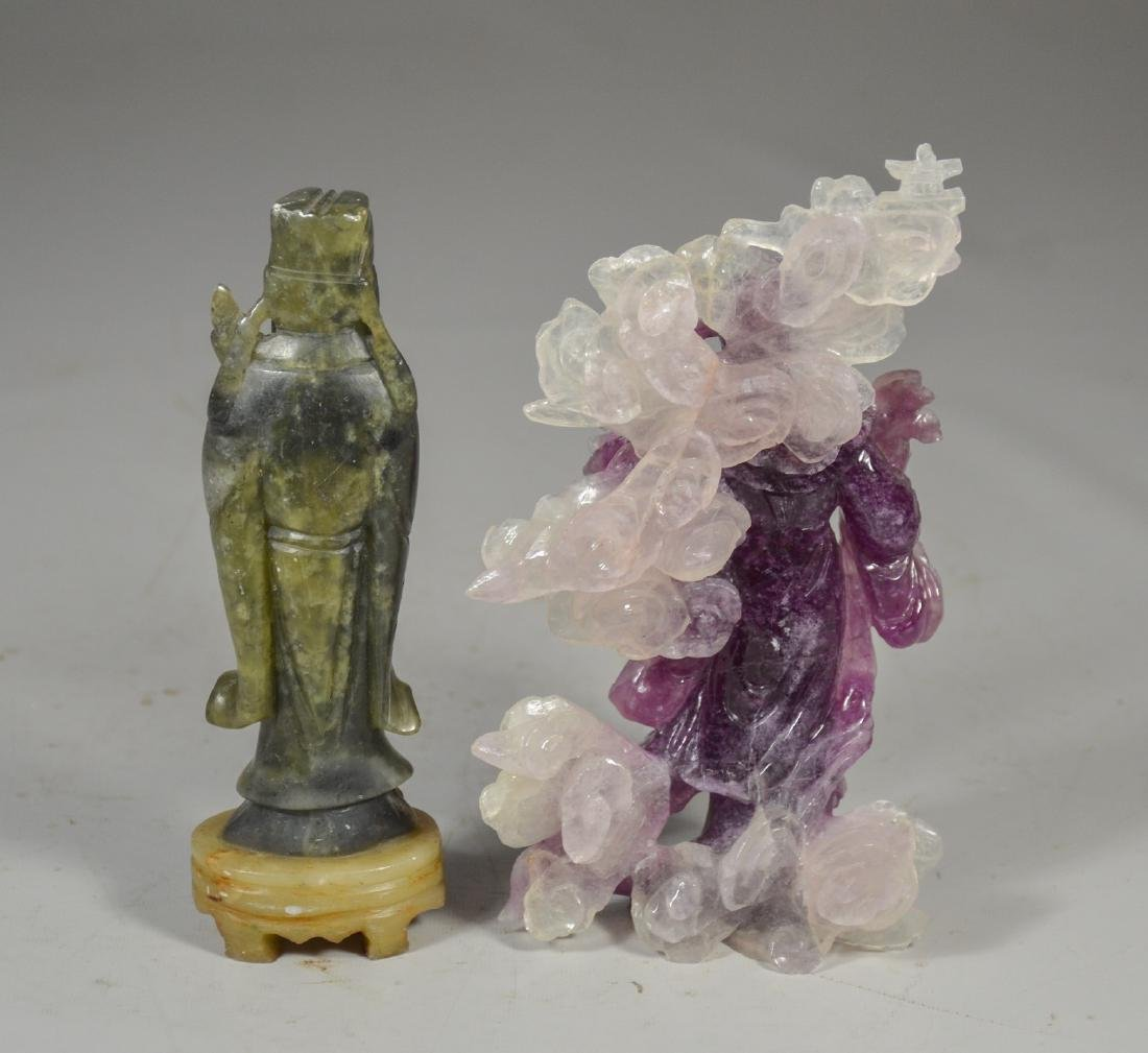 (5) Chinese Stone Carvings of Sage and Maiden - 2