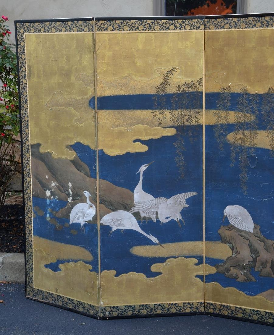 (6) Panel Japanese painted Byobu - 2