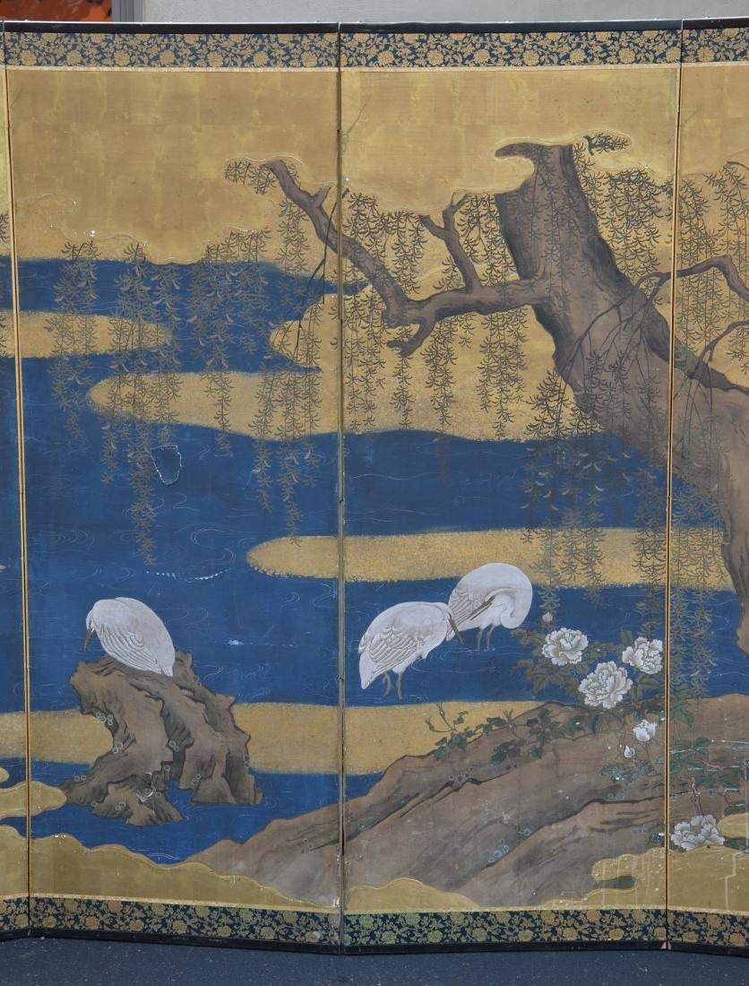 (6) Panel Japanese painted Byobu - 3