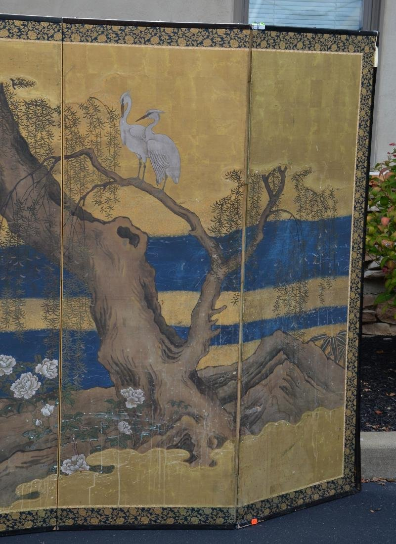 (6) Panel Japanese painted Byobu - 4