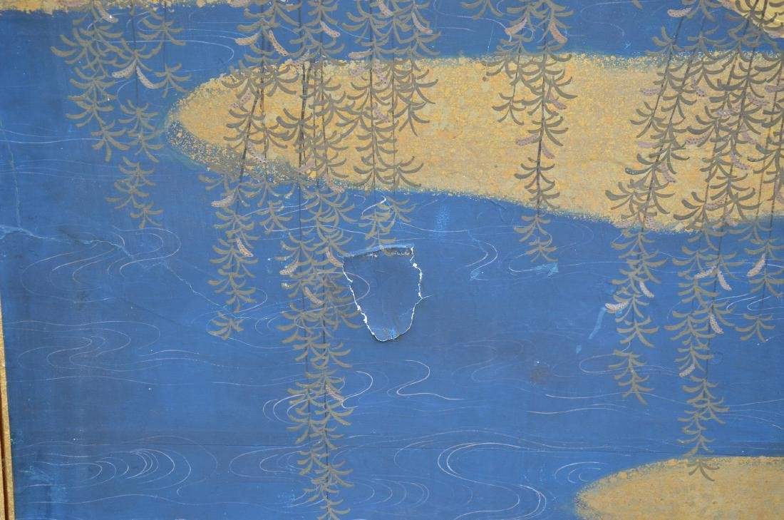 (6) Panel Japanese painted Byobu - 5