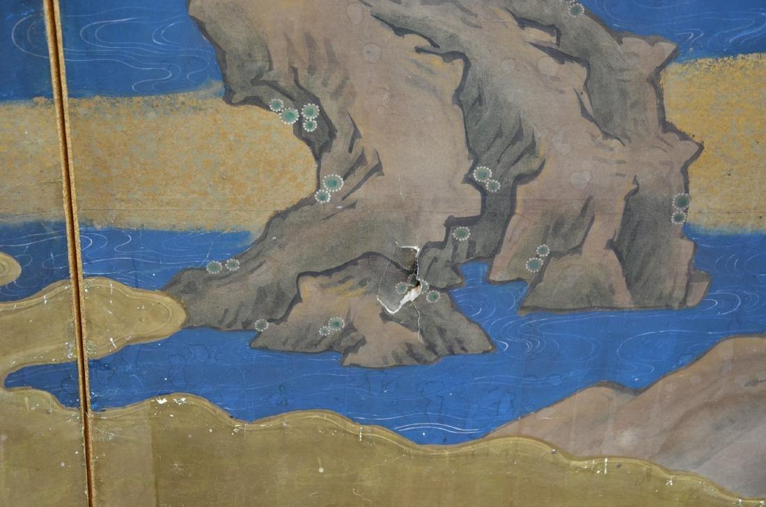 (6) Panel Japanese painted Byobu - 6