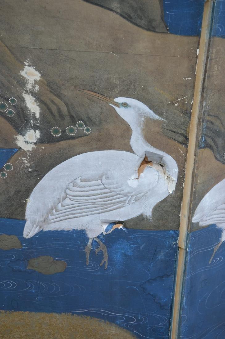 (6) Panel Japanese painted Byobu - 7