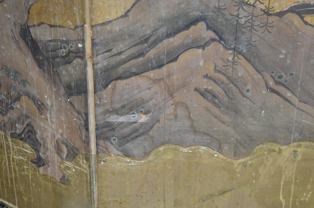 (6) Panel Japanese painted Byobu - 8