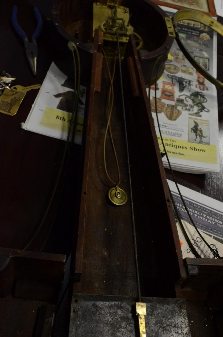 "Early wt driven banjo clock, glass signed ""Willard"" - 5"