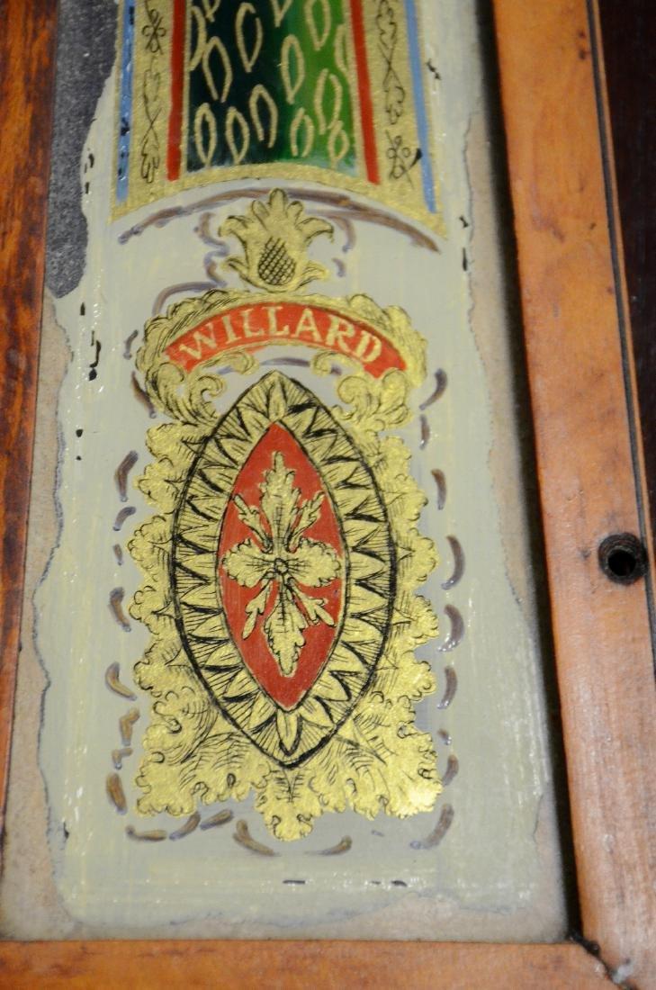 "Early wt driven banjo clock, glass signed ""Willard"" - 6"
