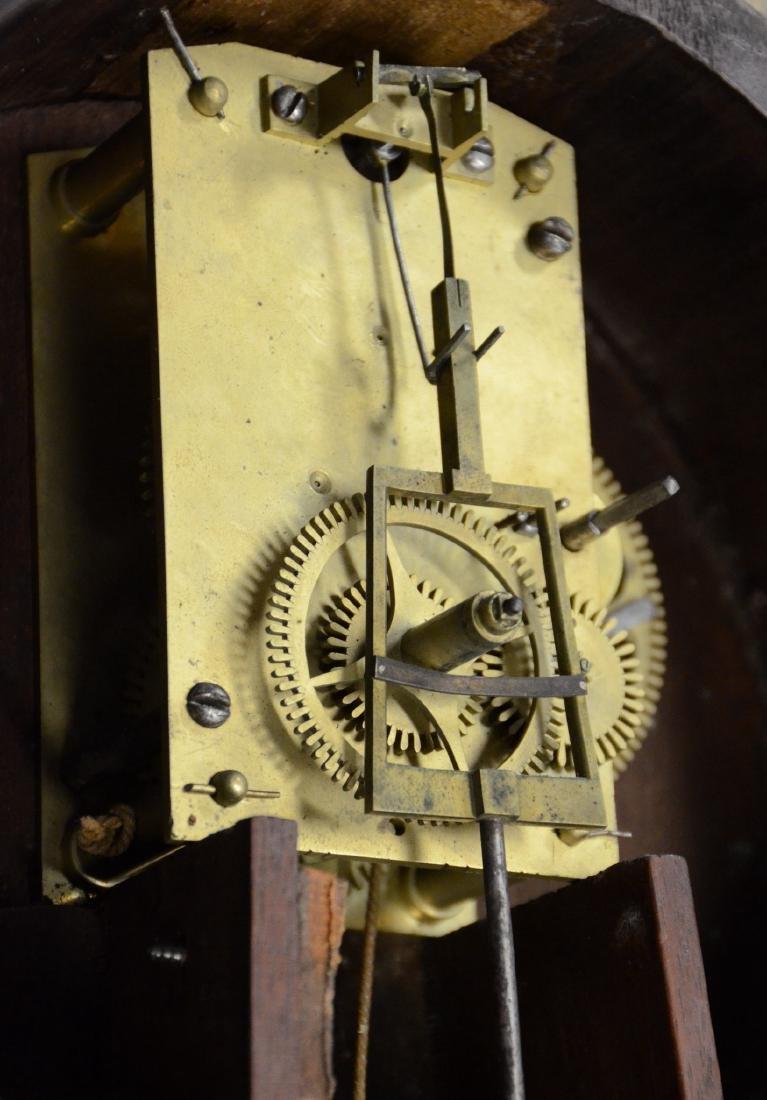 "Early wt driven banjo clock, glass signed ""Willard"" - 8"