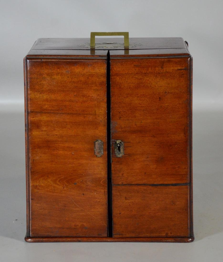 19th C mahogany brass fitted apothecary chest - 2