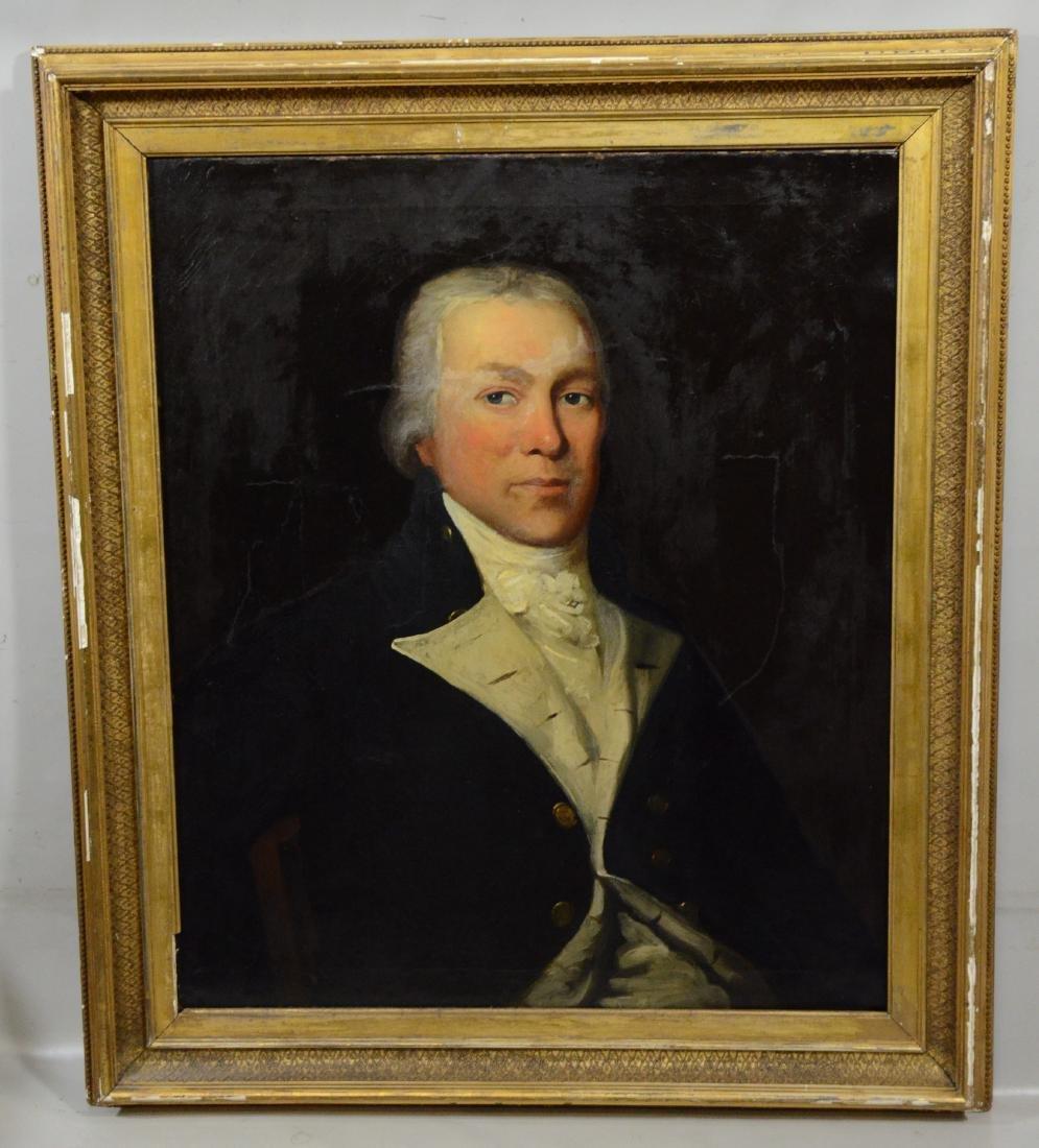 19th C American School Portrait of Gentleman