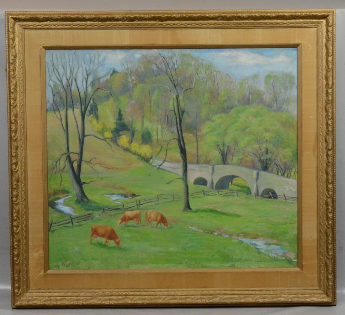 """Dorothy Van Loan, American, """"Chester Springs"""", o/c - 2"""