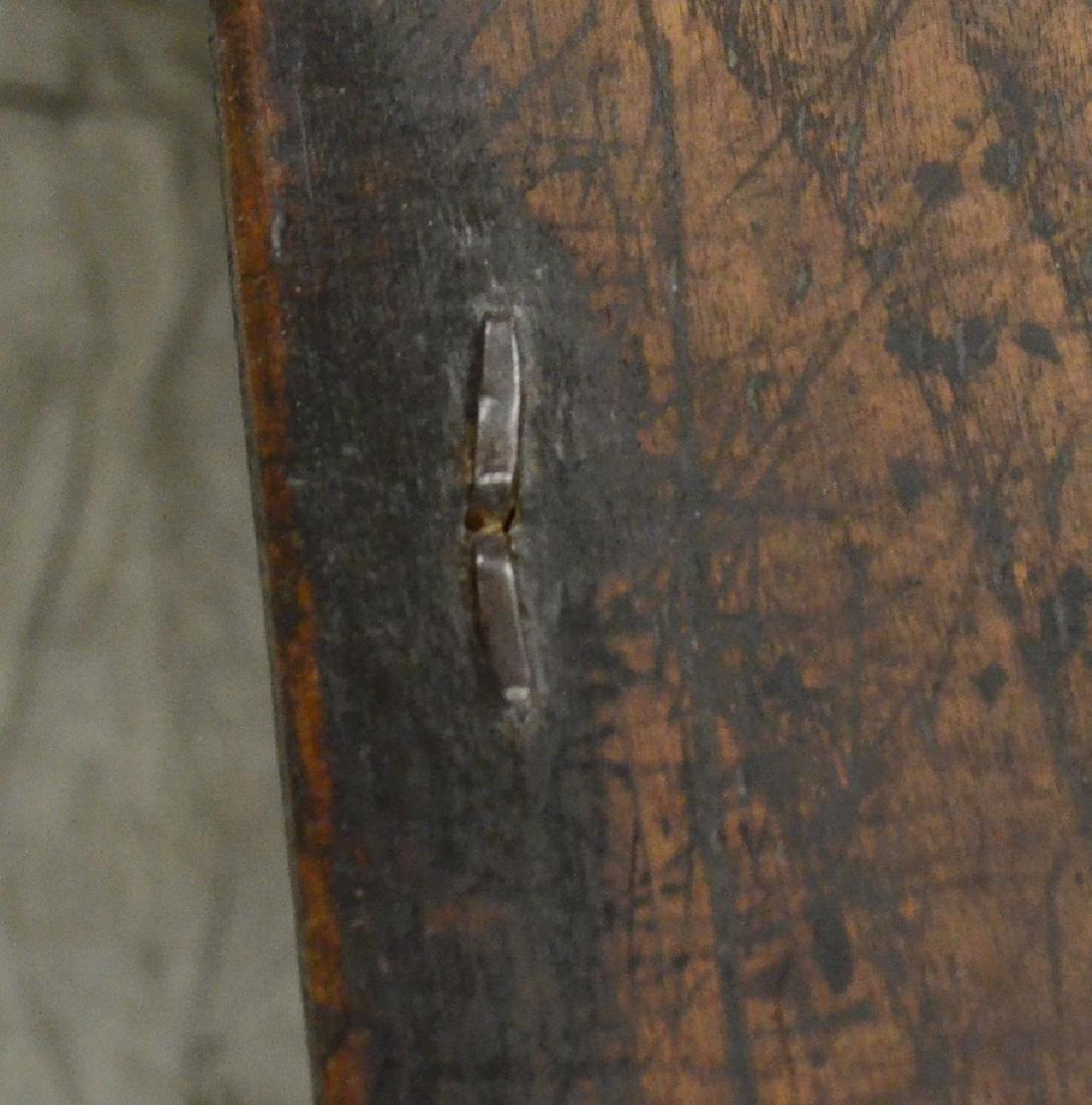 Carved oak Jacobean paneled blanket chest, 1653 - 5