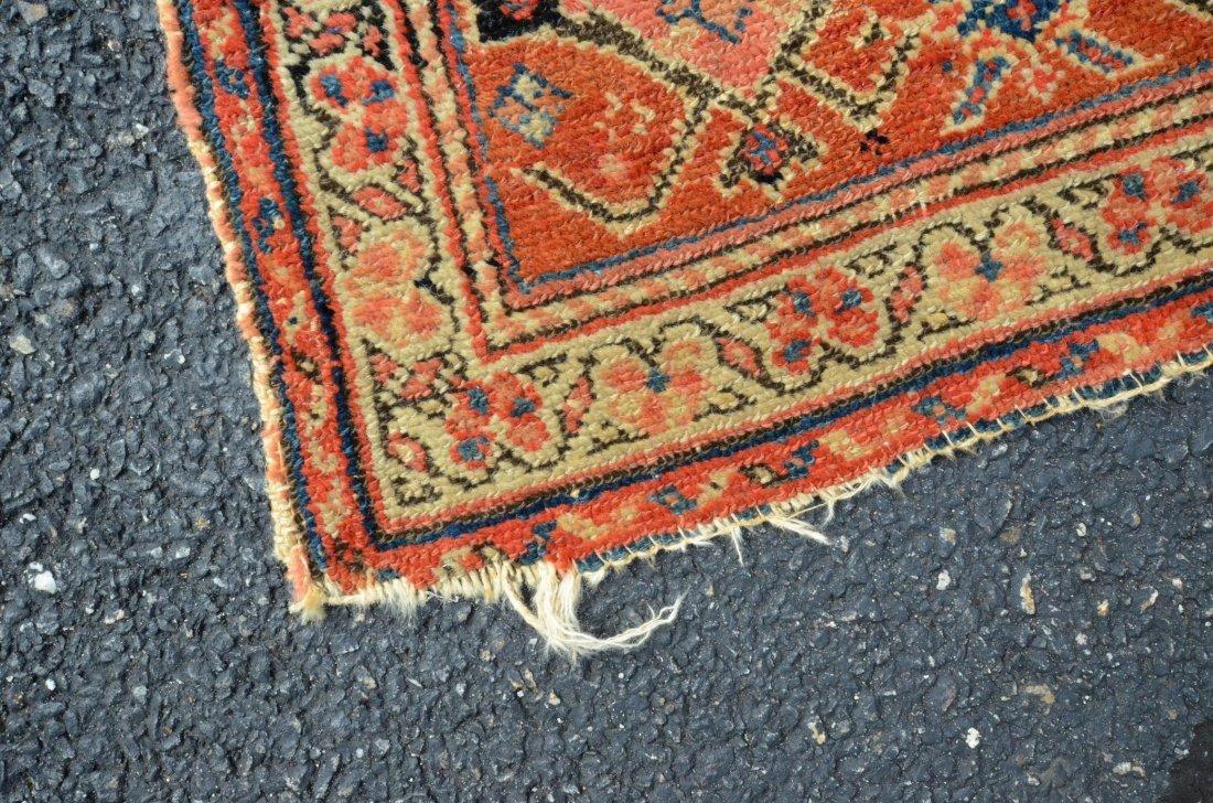 "6'8"" x 15'6"" Persian corridor carpet, wear, repairs - 10"