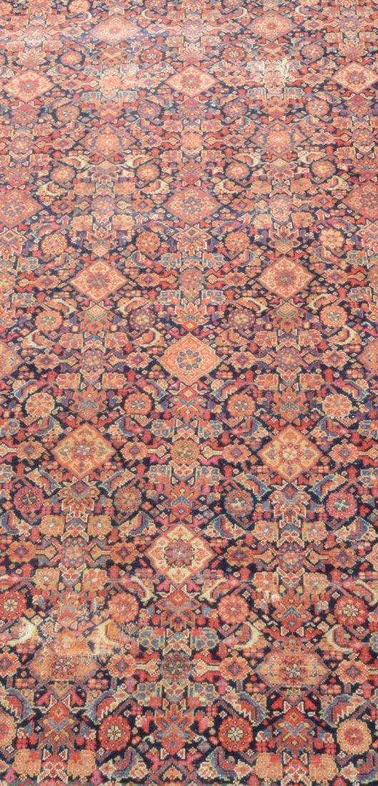 "6'8"" x 15'6"" Persian corridor carpet, wear, repairs - 2"