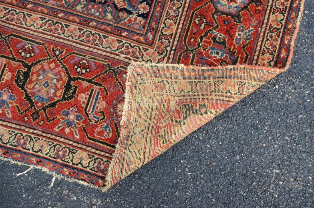 "6'8"" x 15'6"" Persian corridor carpet, wear, repairs - 3"
