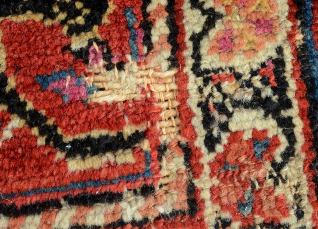 "6'8"" x 15'6"" Persian corridor carpet, wear, repairs - 4"