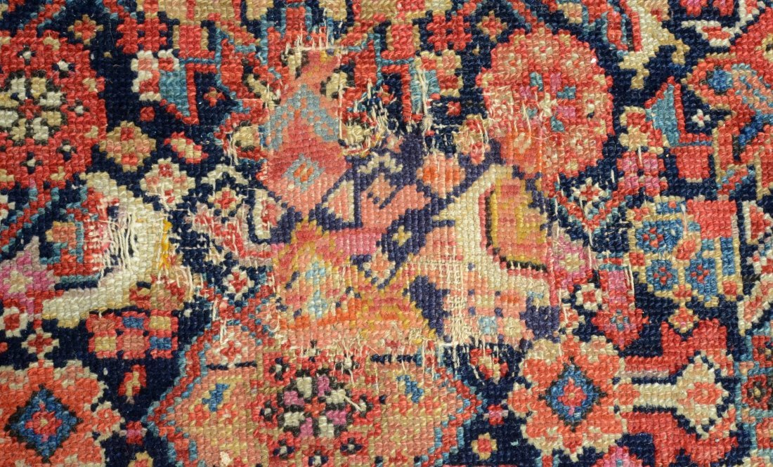 "6'8"" x 15'6"" Persian corridor carpet, wear, repairs - 6"