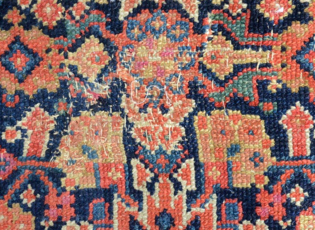 "6'8"" x 15'6"" Persian corridor carpet, wear, repairs - 7"