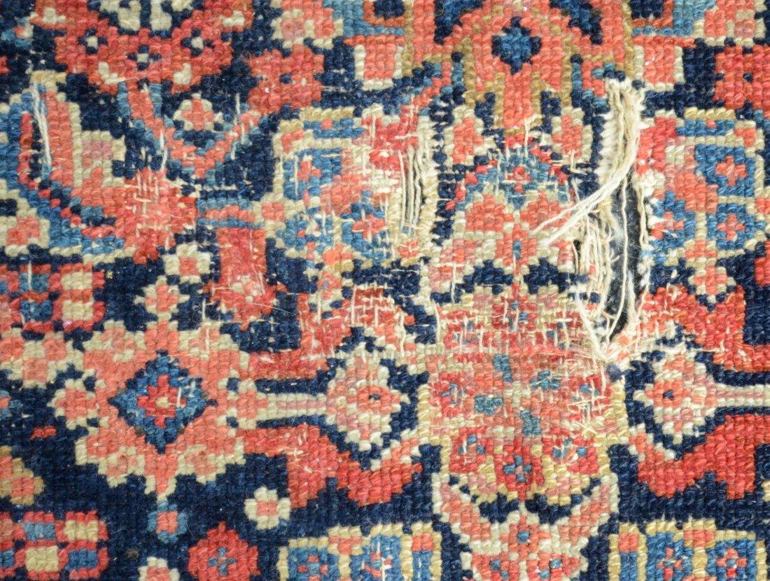 "6'8"" x 15'6"" Persian corridor carpet, wear, repairs - 8"