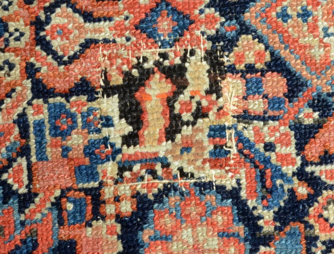 "6'8"" x 15'6"" Persian corridor carpet, wear, repairs - 9"