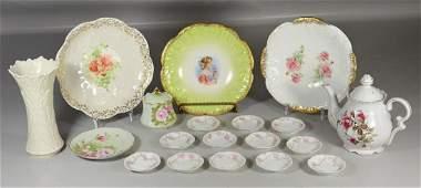 18 Pieces Porcelain Limoges, Lefton, Moss Rose, Lenox