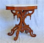 Antique Victorian marble top parlor table