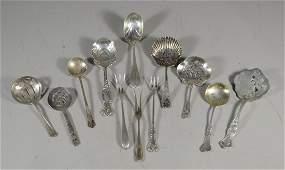 12 sterling silver bonbon spoonssmall servers 3