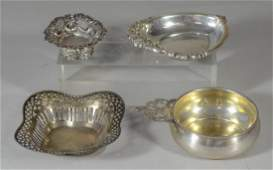 4 small ornate sterling bowls/dishes, Grande Baroque