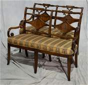 (2) Pr of Theodore Alexander upholstered love seat
