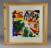 Seymour Zayon 20th C American Abstract collage, cut