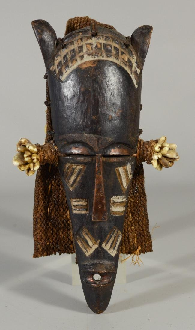 African Tschokwe/Chockwe antelope mask with headdress,