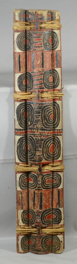Kandrian Papua-New Guinea, carved wood & rattan 3-part