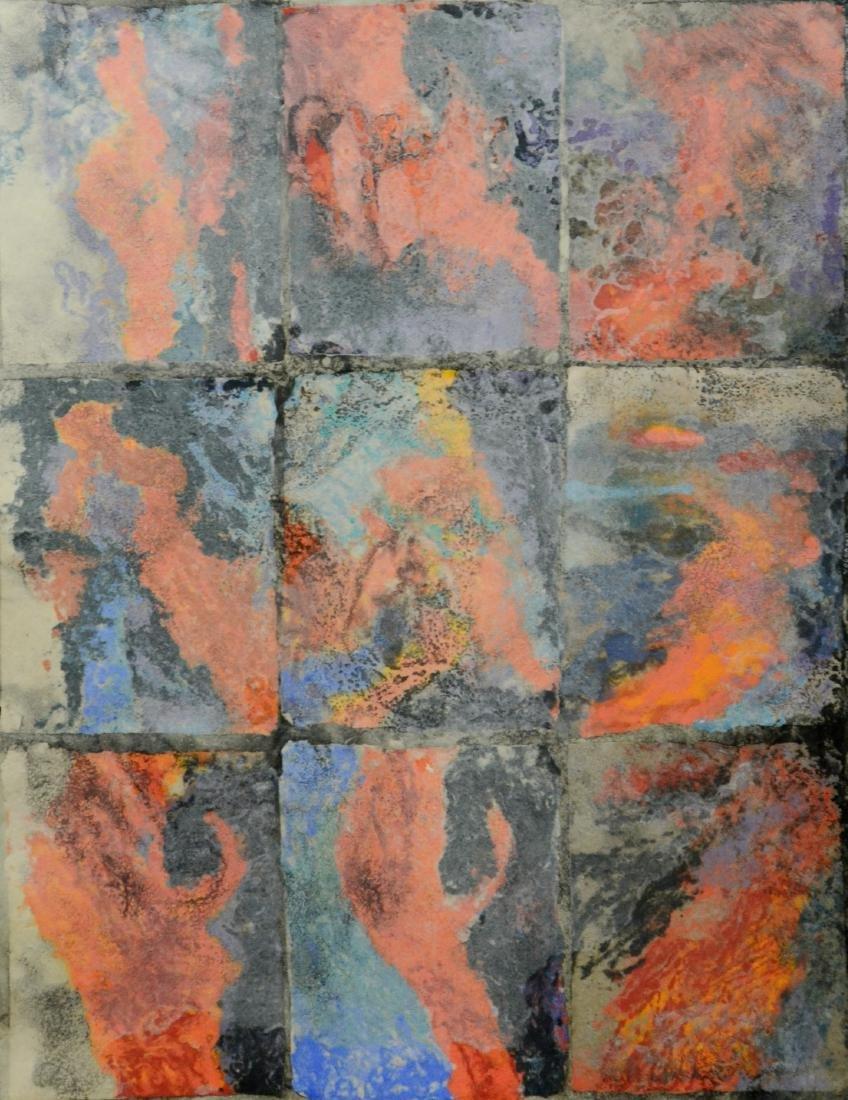 "Fiber artist Marie Sturken, ""Volcano"", 2008, Handmade"