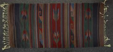 Vintage SW Native American Navajo hand-woven rug