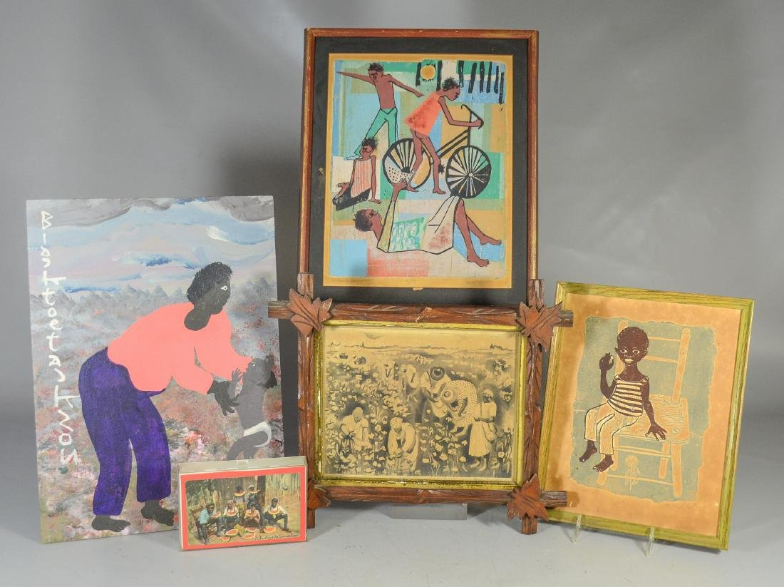 """(5)  pcs Black Americana, to include a painting, """"A"""