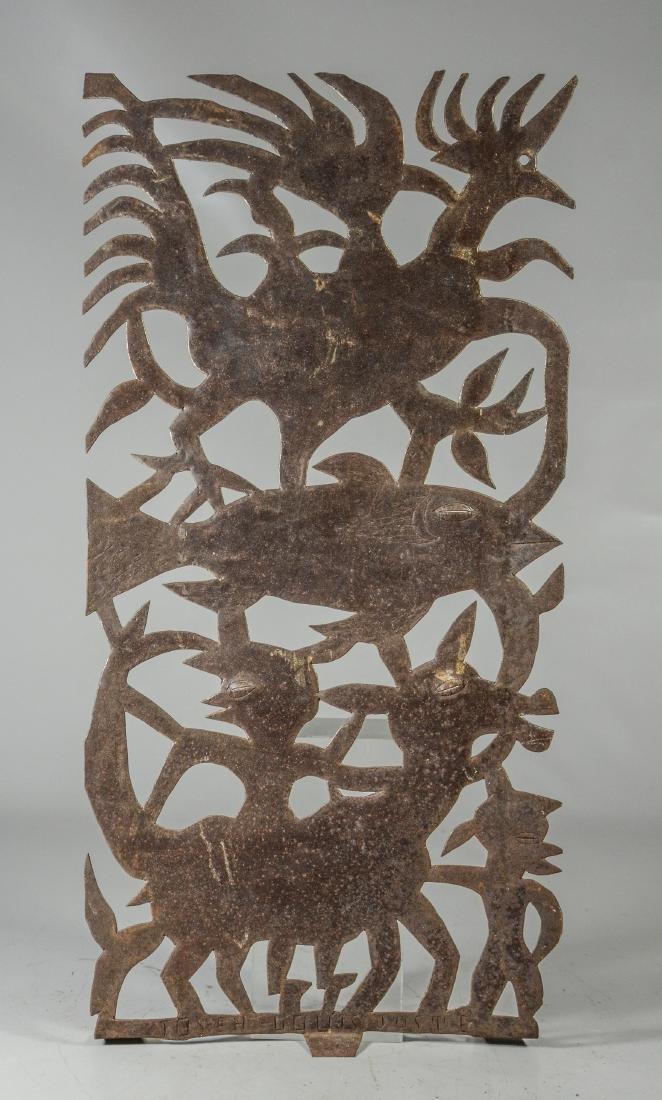 Joseph Louis Juste Haitian metal wall hanging with