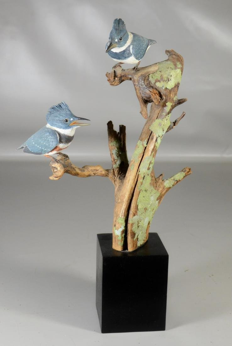"""Ira Frost Kingfisher Sculpture 20"""" h"""