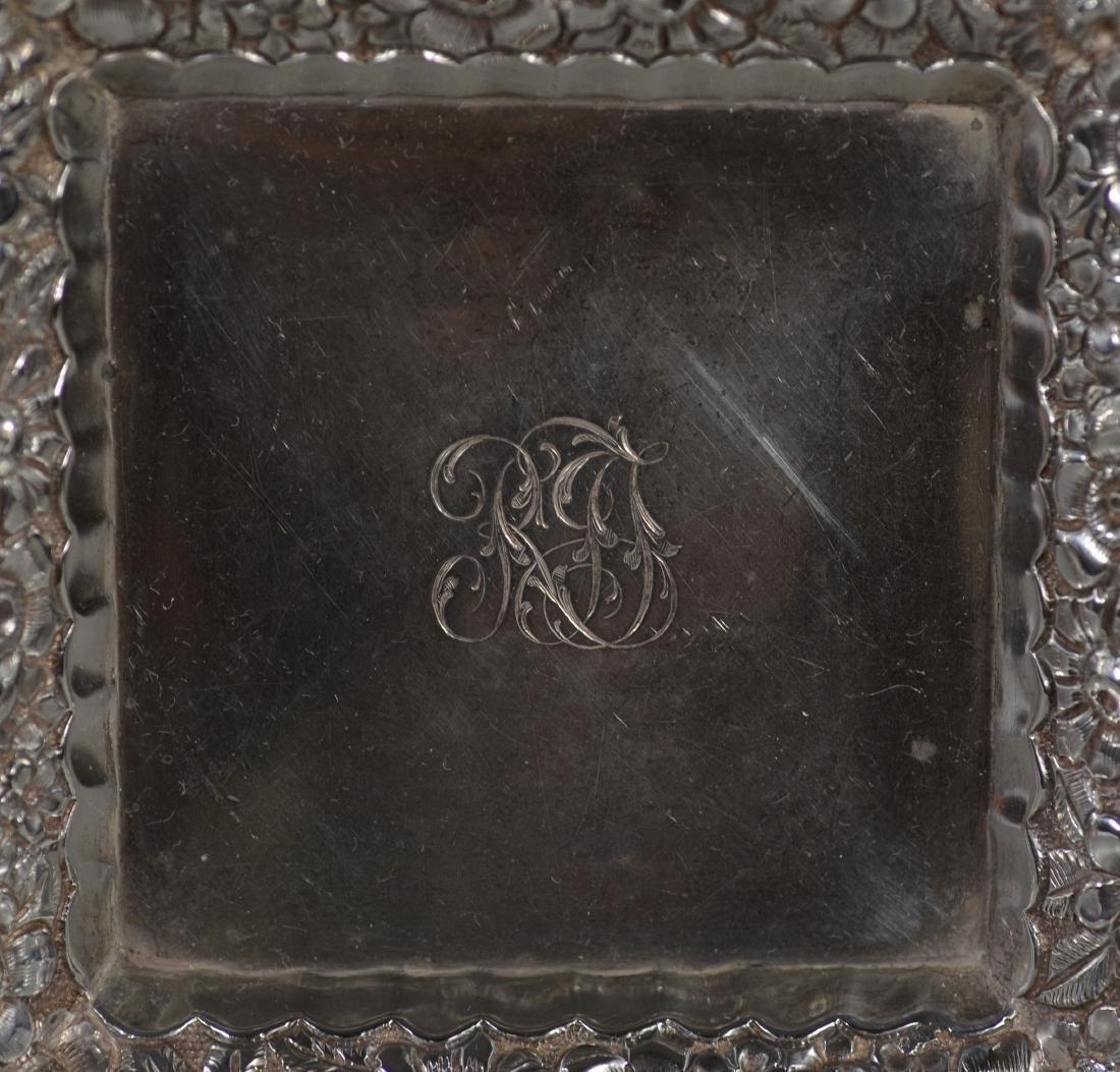 Pr Tiffany & Co sterling silver floral repousse bowls - 2