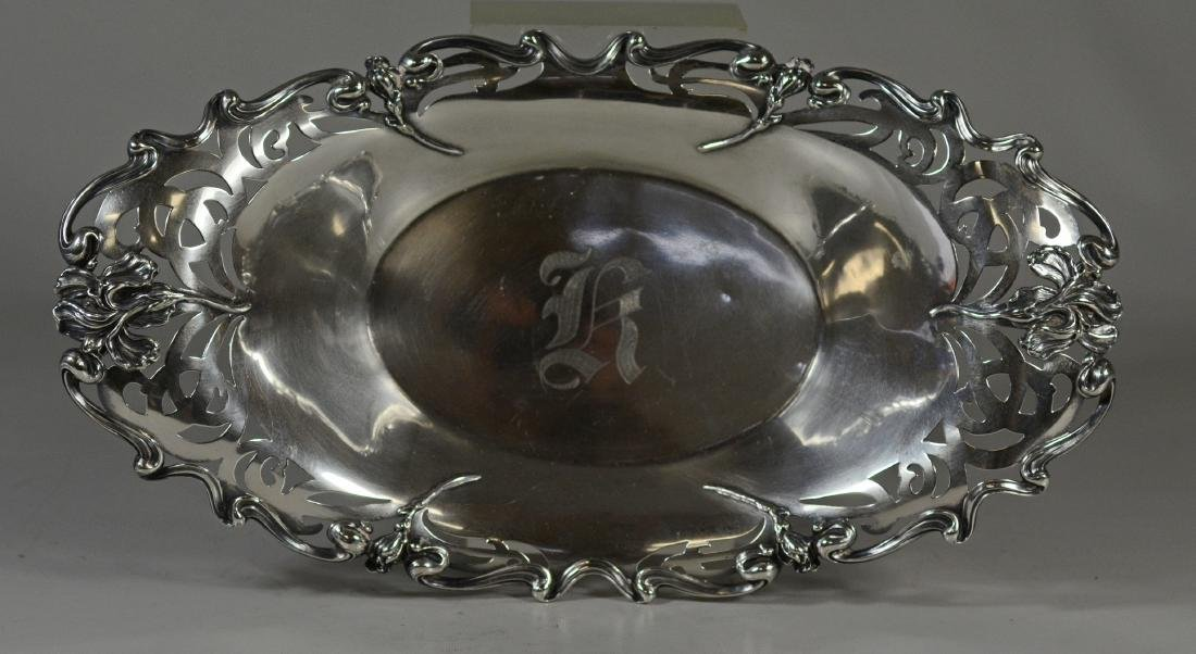 Wm B Kerr sterling silver oval bread dish