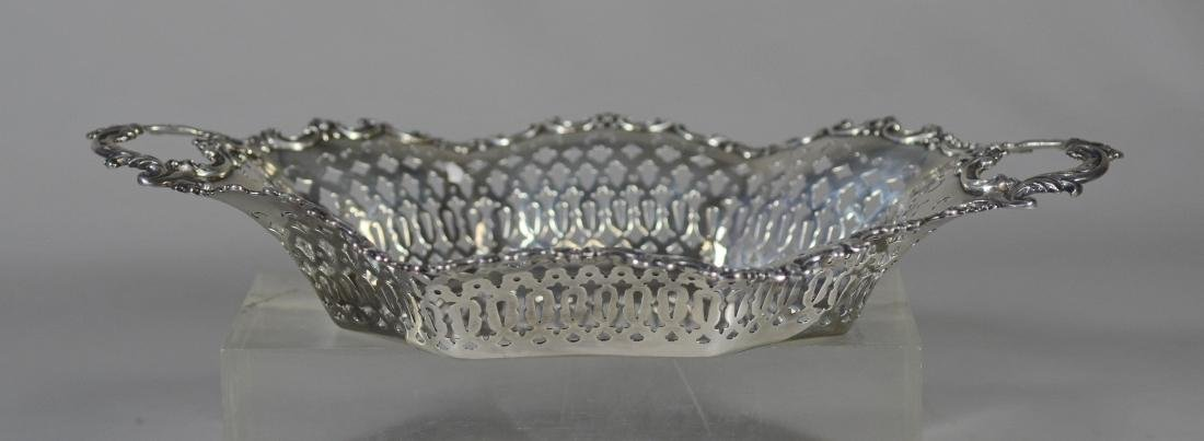 Mauser sterling silver paneled pierced bread bowl - 3