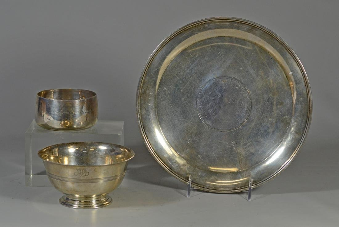 (3) Tiffany & Co, Makers sterling silver table items