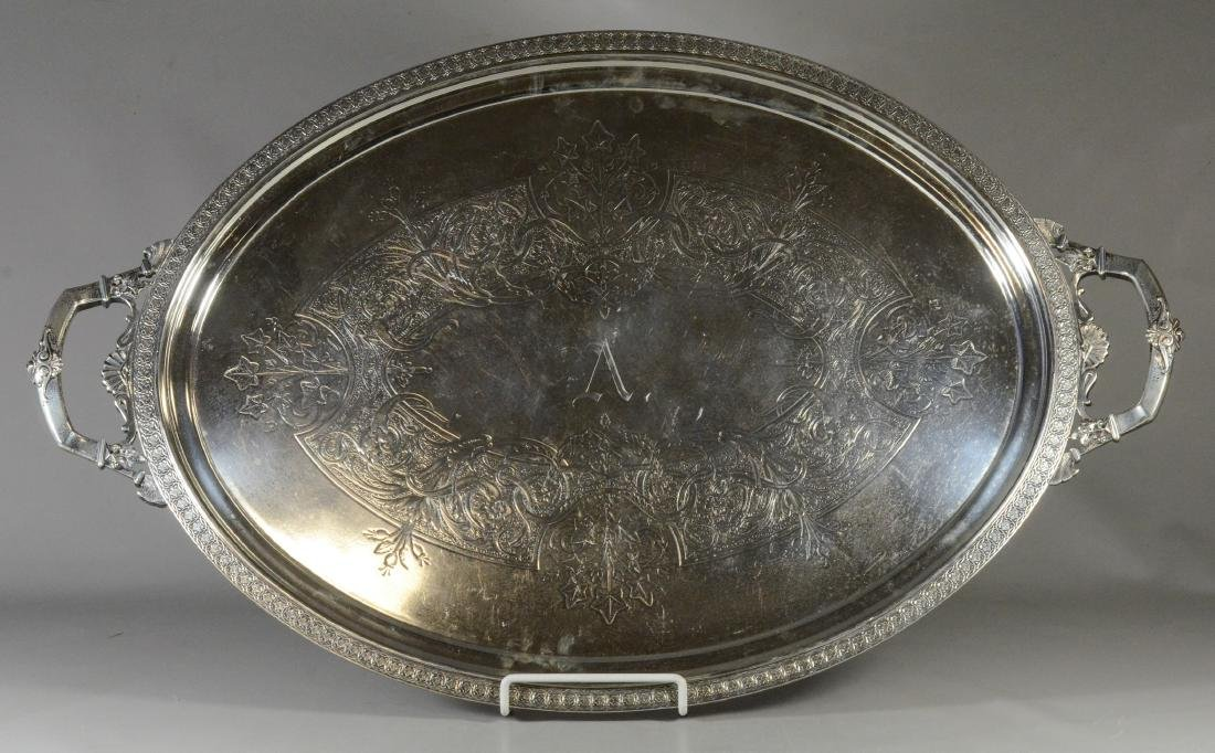 Tiffany & Co, Makers Etruscan  sterling tray, 161 TO